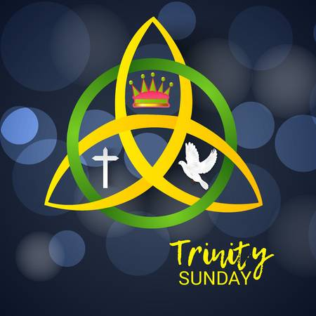 101994440 stock vector trinity sunday